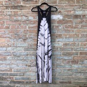 YFB Tie Dye Maxi Dress Black White Youth Racerback